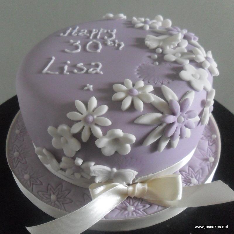 Pleasant Purple Floral Vintage Birthday Cake A Simple Birthday Cake Flickr Funny Birthday Cards Online Fluifree Goldxyz