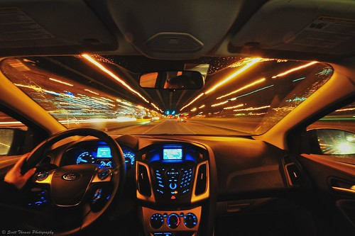 road longexposure newyork motion blur ford car night moving nikon focus driving interior wideangle tokina dash syracuse windshield uwa d700 1116mm yourphototips scottthomasphotography