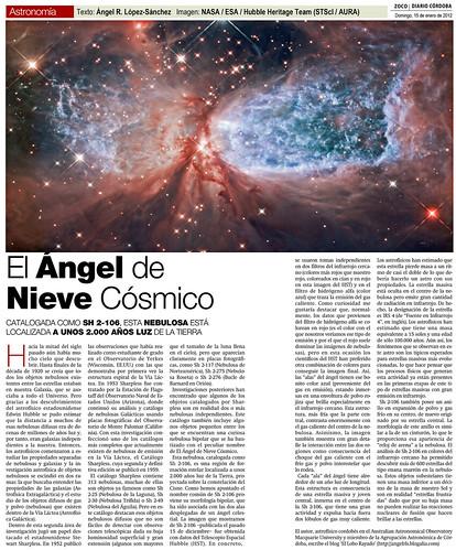 Zoco Astronomía: El Ángel de Nieve Cósmico | by Ángel López-Sánchez