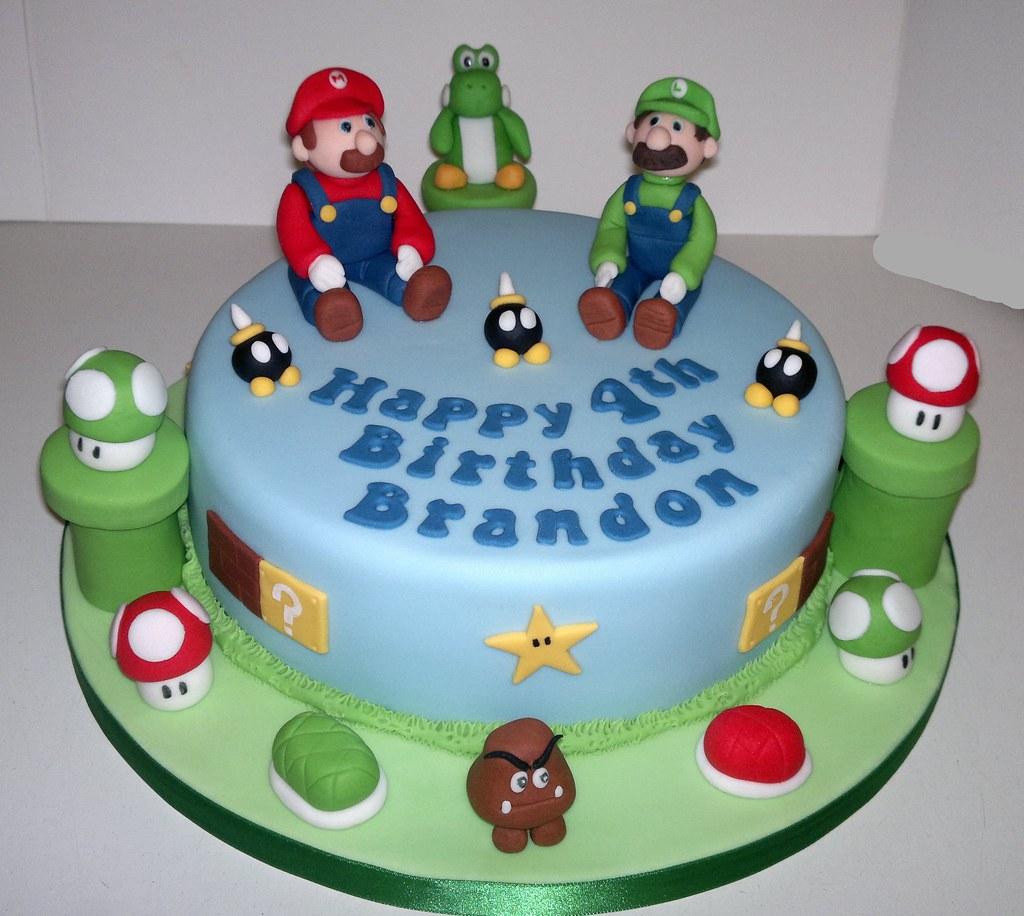 Sensational Mario And Luigi Birthday Cake Liz Flickr Funny Birthday Cards Online Unhofree Goldxyz