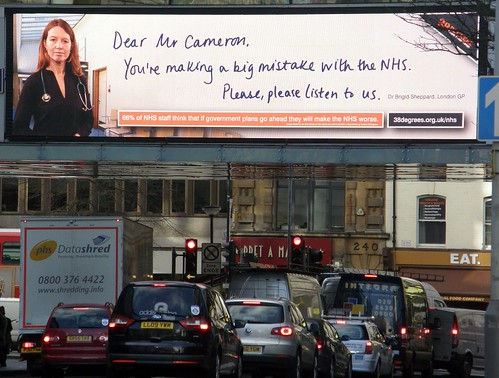 One of the huge NHS billboard ads that are going up across the country today | by 38 Degrees