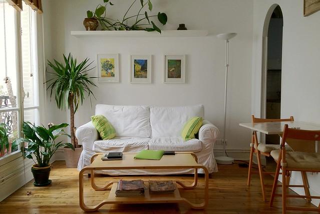 Paris apartment - living area