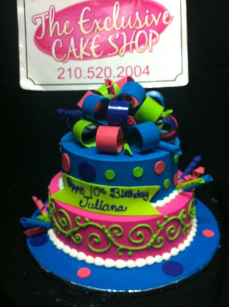 Terrific Bright Colors Birthday Cake Exclusive Cake Shop Flickr Funny Birthday Cards Online Necthendildamsfinfo