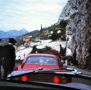 Italy-France   -   Border Crossing from Italy to France  -  John & Barbara & the Opal GT  - June 1970