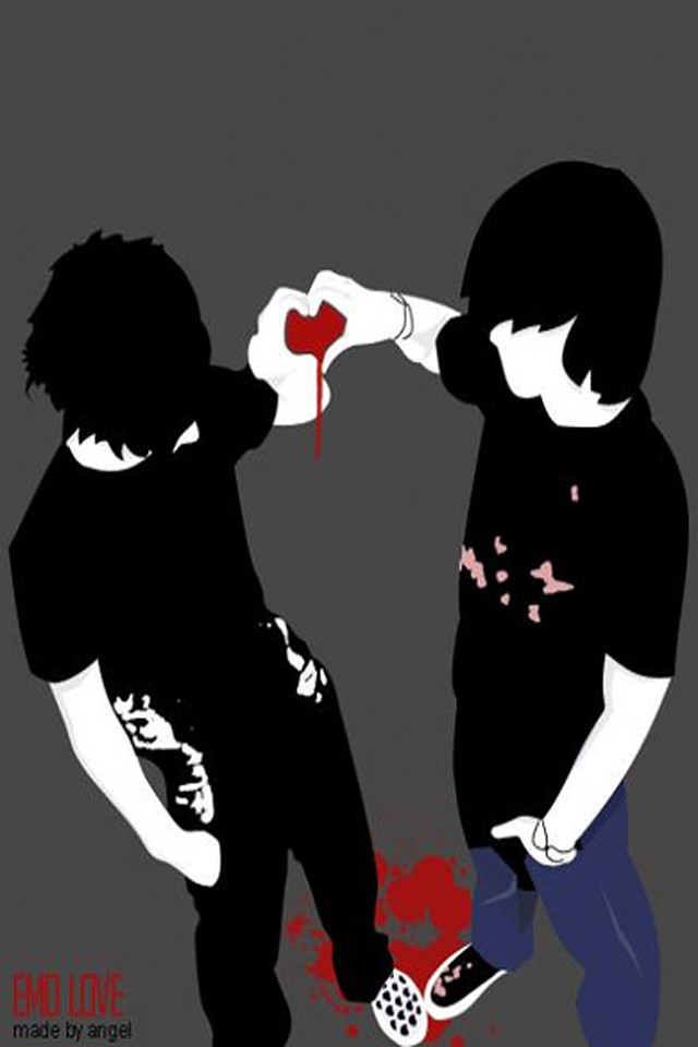 Emo Friendship Wallpaper 4 Apples Iphone 4 And Iphone 4s