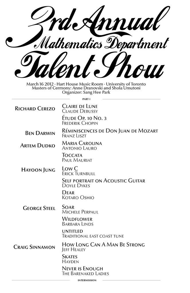 math talent show program final   Richard J  Cerezo   Flickr