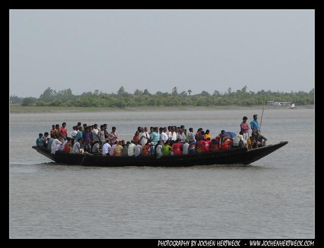 Crowded ferry boat, Sundarbans, India
