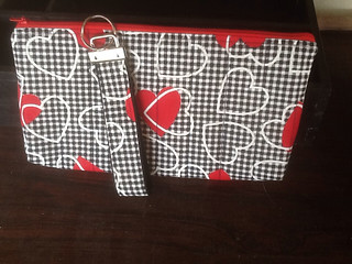 Pouch with matching key ring