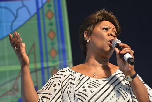 Irma Thomas in the Gospel Tent. Photo by Kichea S Burt.