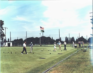 Lawn bowling at Jefferson Park, 1969