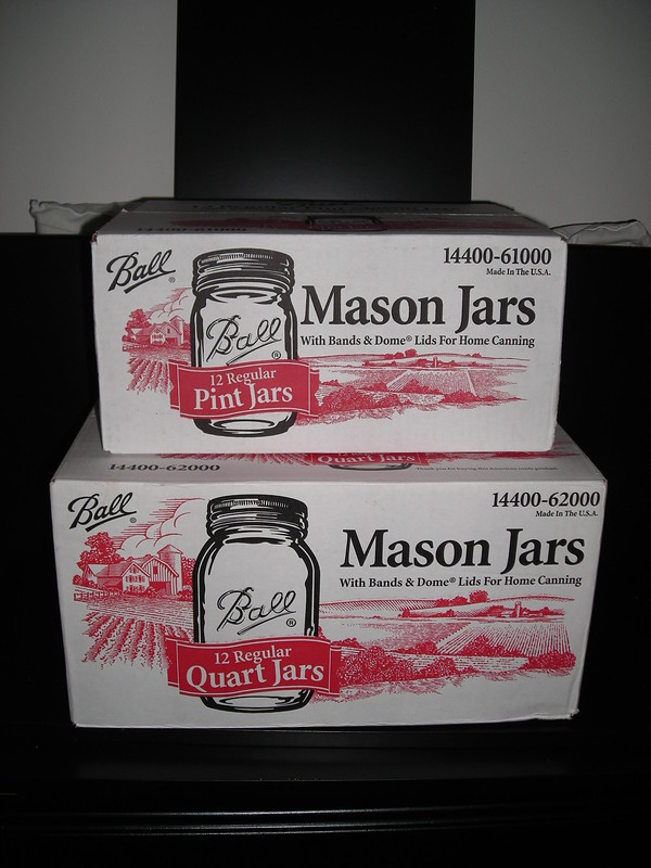 jars from  a dumpster