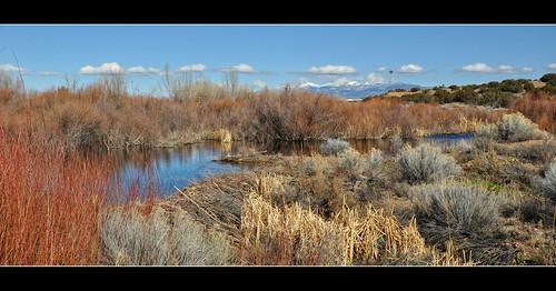 panorama newmexico santafe river duck dam beaver wetlands sangredecristomountains