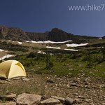 Campsite below McClintock Peak