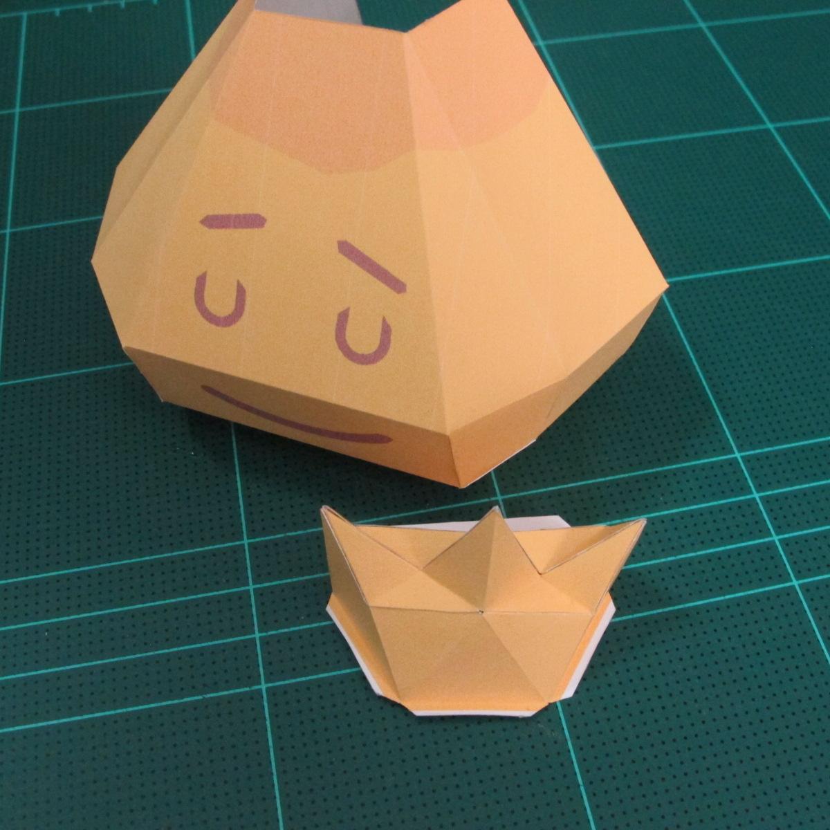 วิธีทำโมเดลกระดาษตุ้กตาสัตว์เลี้ยง หยดทองจากเกมส์ คุกกี้รัน (LINE Cookie Run Gold Drop Papercraft Model - クッキーラン  「黄金ドロップ」 ペーパークラフト) 014