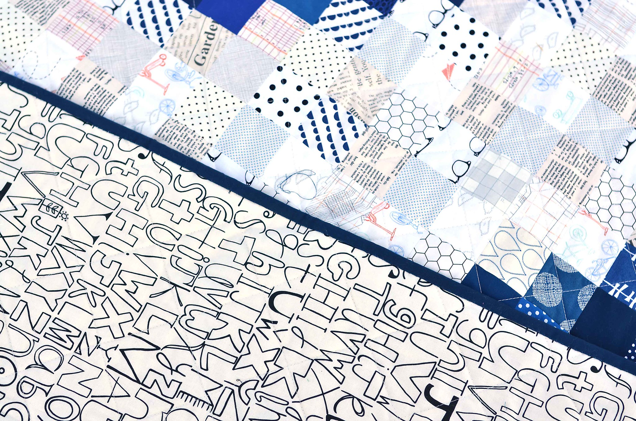 BYU Pixel quilt backing