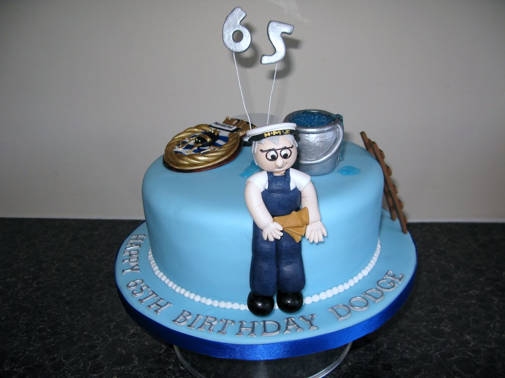 Outstanding 65Th Birthday Cake 65Th Birthday Cake For A Man Who Served Flickr Funny Birthday Cards Online Alyptdamsfinfo