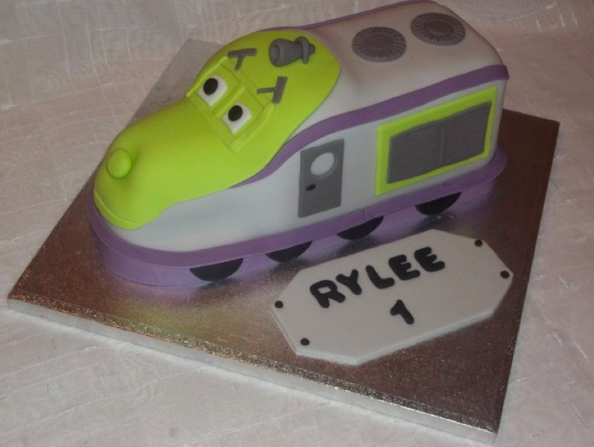 Super Chuggington Koko Cake A Photo On Flickriver Funny Birthday Cards Online Overcheapnameinfo