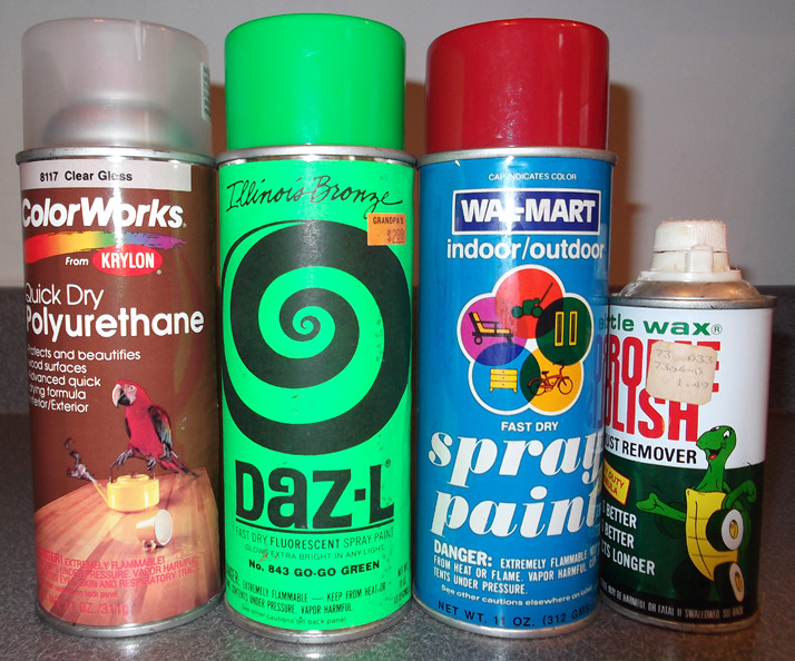 Old Spray Paint Cans Can Turtle Wax Wal-Mart Daz-L | Flickr
