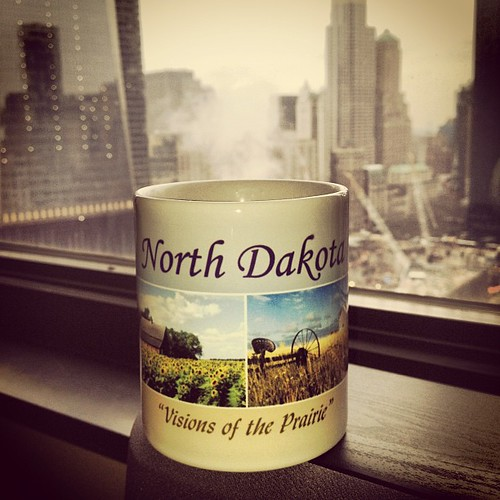 Smoke from the construction site at Ground Zero emitting from my North Dakota coffee cup.   by fimoculous