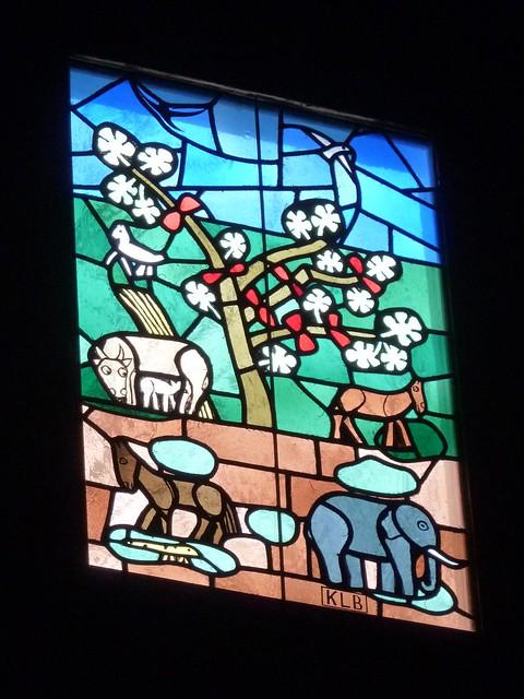 Block Island, RI, Catholic Church Stained Glass Window