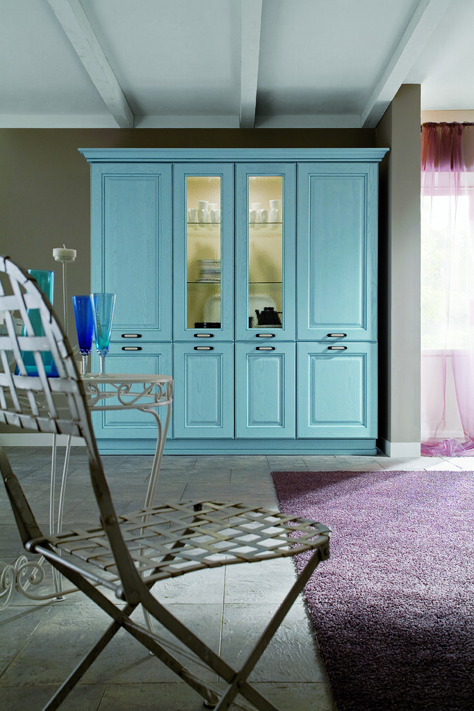 Cucina classica mobili azzurri | Gicinque Cucine - cucina cl ...