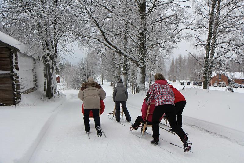 kick sled Kiuruvesi Sininen Helmi