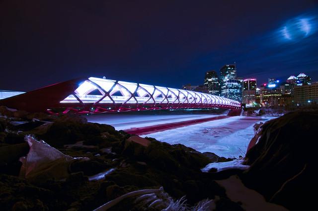 Calgary's new pedestrian Peace Bridge.