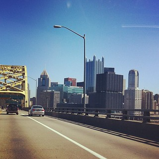 Exiting the Ft. Pitt Tunnel #pittsburgh #FtPittBridge | by thebaldfatguy