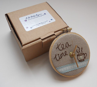 Tea Time Mini Wall Clock | by themasonbee