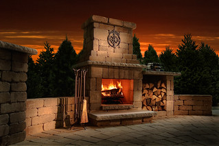 Compact Colonial Fireplace | by Necessories-Kits