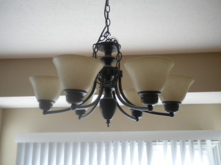 Hanging Light Fixture | by www.homejobsbymom.com