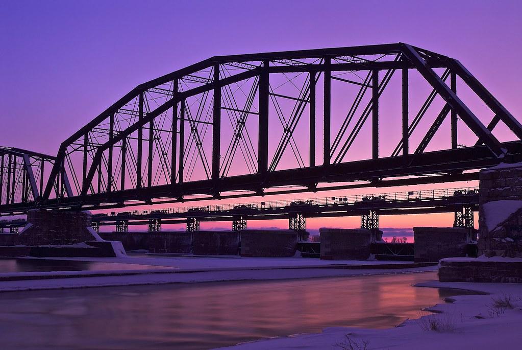 camelback truss bridge, international railroad bridge, sau