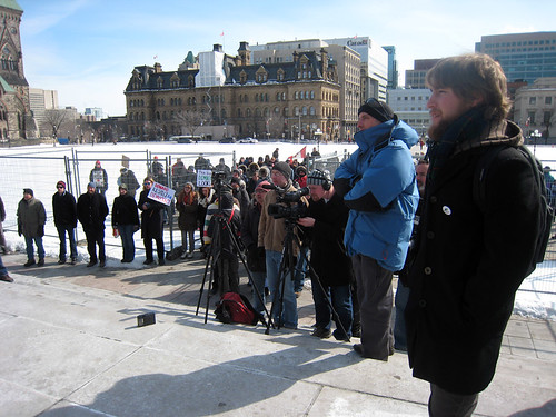 Media at Ottawa Electoral Fraud Protest | by BruceHyerMP