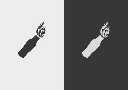 Molotov Cocktail symbol | by Lefteris Kastrinakis