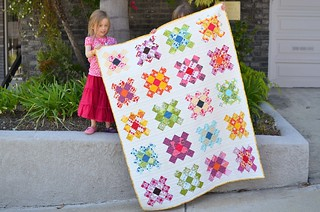 harper and kate holding my granny square quilt | by ericajackman