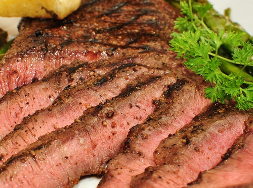 Mmm... grilled flat iron steak with cracked black peppercorns | by jeffreyw