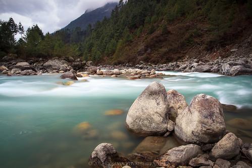 longexposure nepal nature trekking river landscape himalaya khumbu 2012 phakding khumburegion sagarmathanationalpark easternregion pichayaviwatrujirapong namchevdc dudhkohsiriver