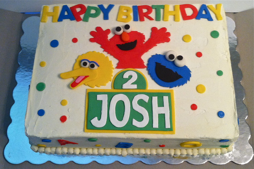 Stupendous Sesame Street Birthday Cake Chocolate Chip Cake With Vanil Flickr Personalised Birthday Cards Paralily Jamesorg