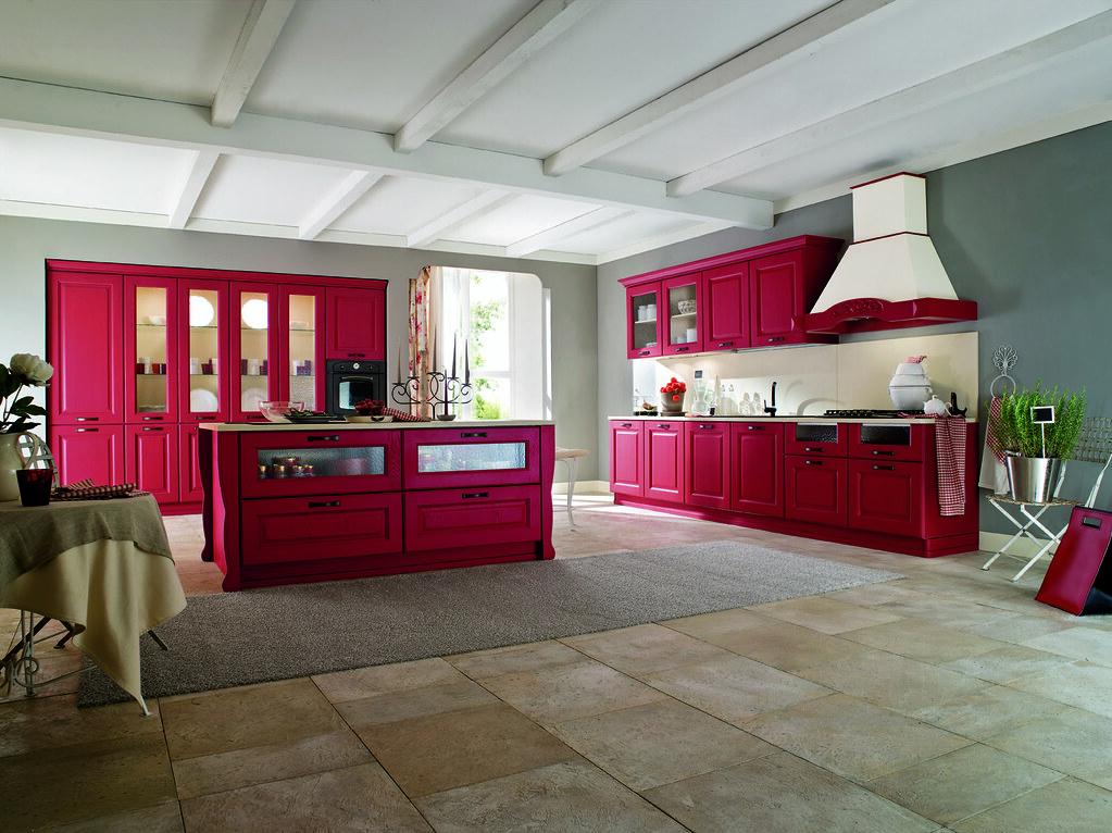 Cucina classica mobili color zenzero | Gicinque Cucine - cuc ...
