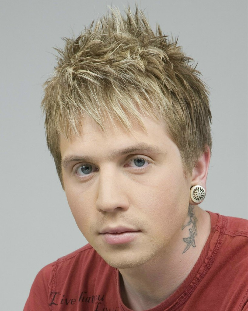 Male Hairstyle With Blonde Highlights Male Hairstyle With