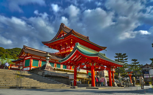 Fushimi Inari's Main Gate (HDR)... JTM Photo of the Month, February 2012 | by demawo