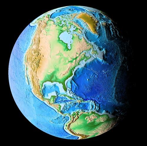 Earth - Digital Elevation Model | by Kevin M. Gill