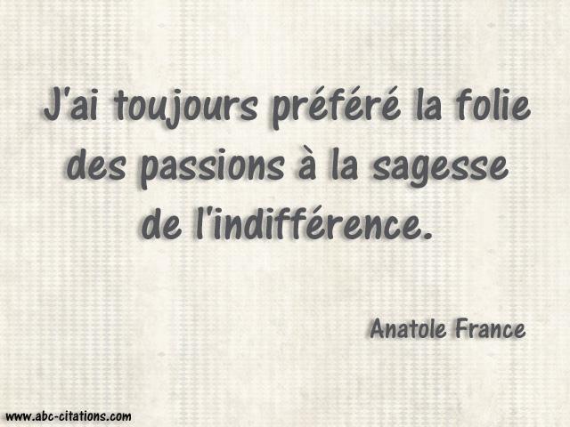 Citation Anatole France 01 J Ai Toujours Prefere La Folie Flickr
