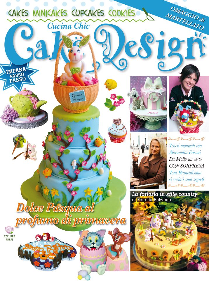 My cake on the cover of Cucina Chic Cake Design n.5 | Flickr