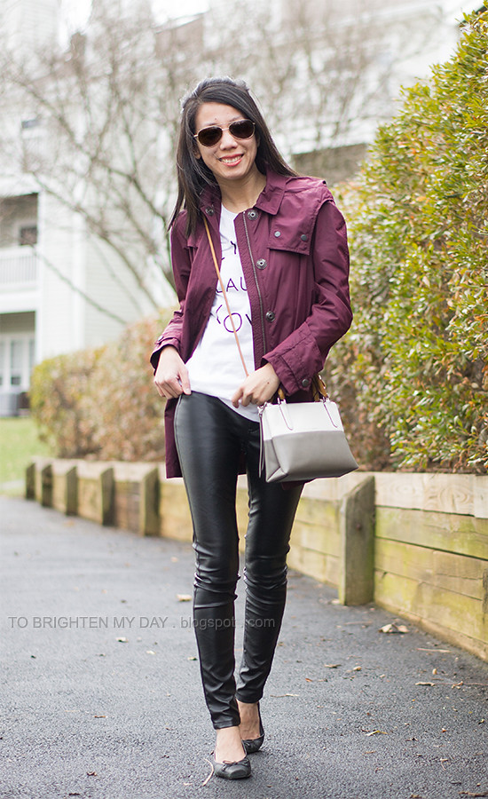 5fbc3ccc6e6f3 ... graphic tee, faux leather pants, colorblock bag   by brightenday