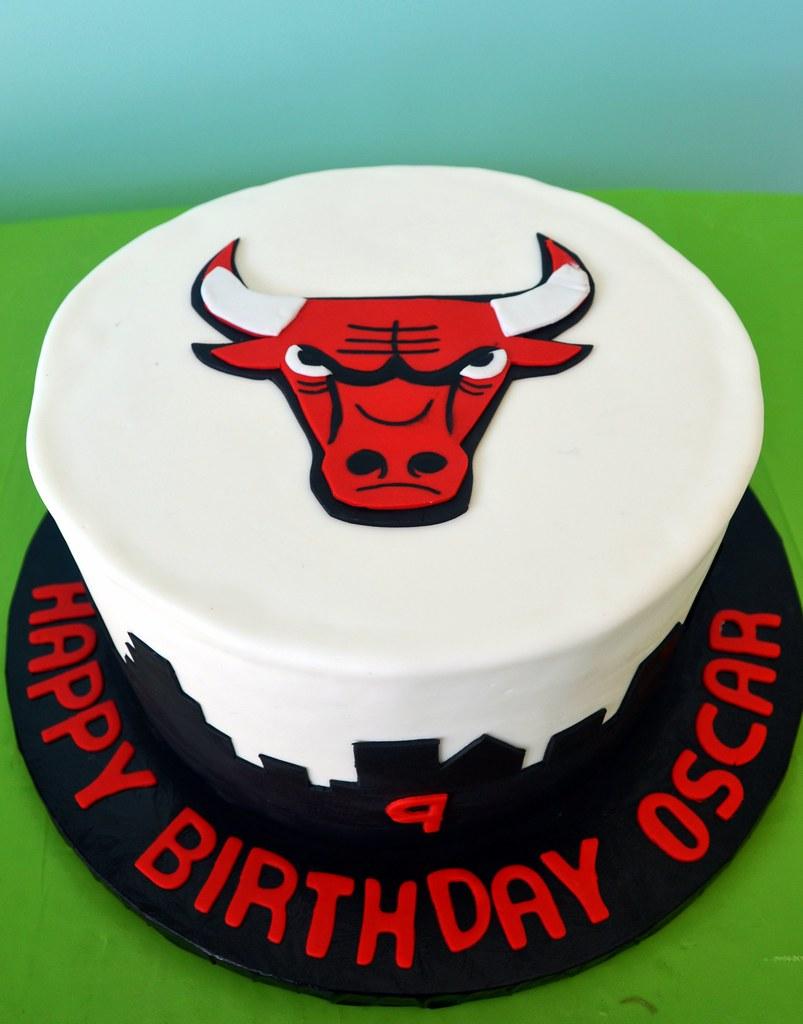 Fine Chicago Bulls Cake Simply Sweet Creations Flickr Funny Birthday Cards Online Alyptdamsfinfo