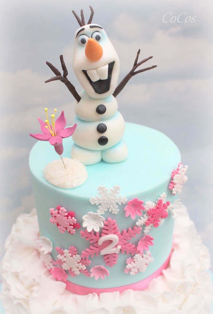 Awesome Frozen Theme Olaf Birthday Cake Lynette Brandl Flickr Funny Birthday Cards Online Alyptdamsfinfo