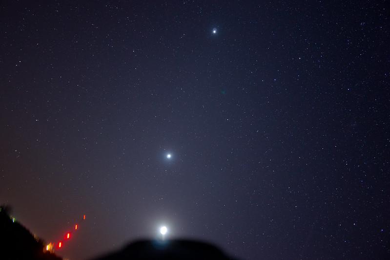 Jupiter, Venus, Moon over Zenda