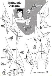USS.ENTERPRISE origami diagram Easy version 2 | by Matayado-titi