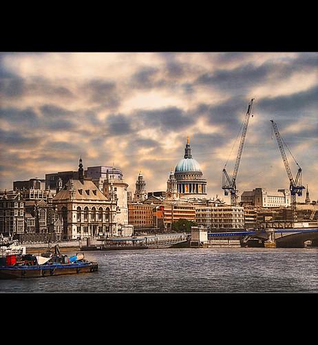 bridge london water riverthames enbankment stpaulcathedral